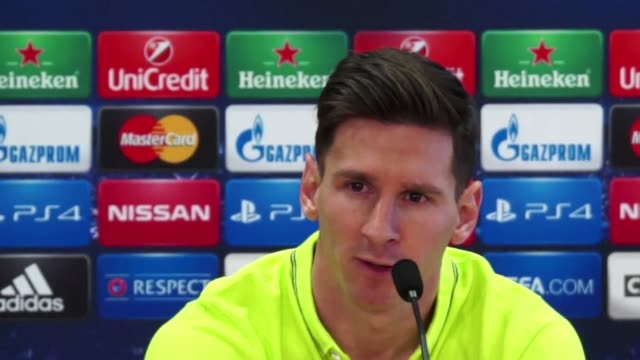 vídeos de stock, filmes e b-roll de lionel messi believes former barca boss pep guardiola will not leave anything to chance when he takes his bayern munich side to the camp nou for the... - semifinal