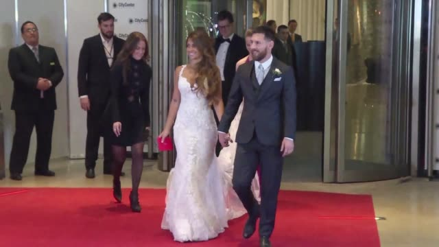 lionel messi said i do to childhood sweetheart antonella roccuzzo friday in his argentine hometown rosario where footballers and celebrities... - shakira stock videos and b-roll footage