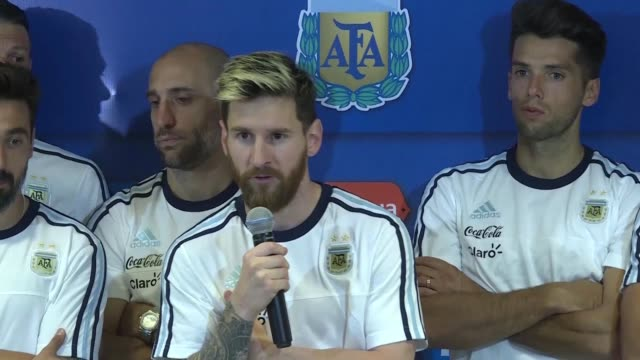 lionel messi scores a majestic free kick as argentina reignite their misfiring world cup qualification campaign against colombia before declaring a... - lionel messi stock videos and b-roll footage