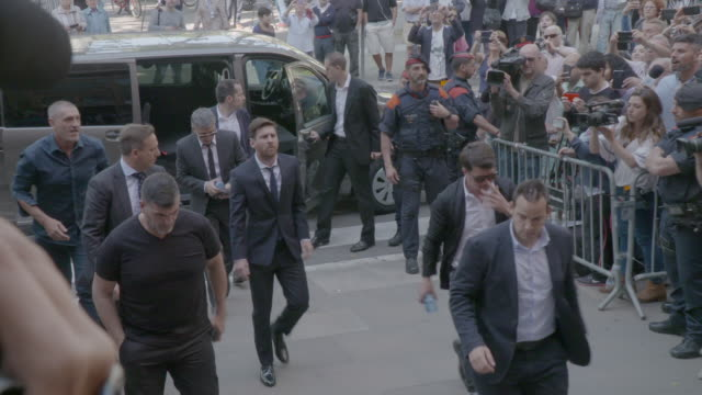 Lionel Messi seen arriving to Spanish court on June 2 2016 in Barcelona Spain Leo Messi has been accused of tax evasion from 2007 to 2009 for hiding...