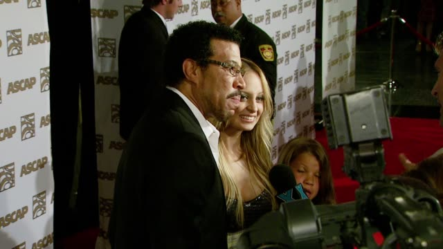 Lionel Richie and Nicole Richie at the ASCAP's 25th Annual Pop Music Awards at the Kodak Theatre in Hollywood California on April 9 2008