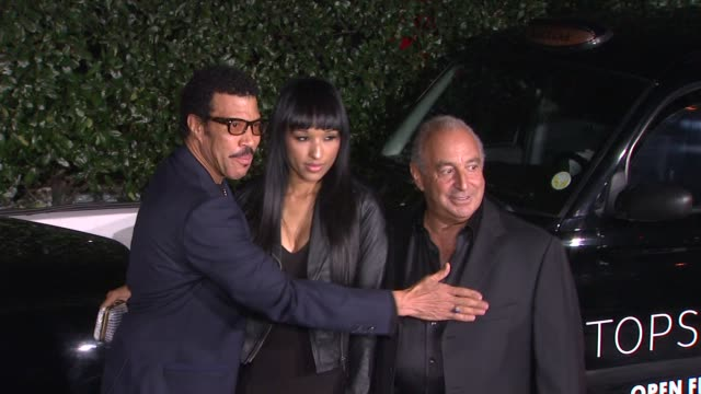 lionel richie and philip green at topshop topman opening party at cecconi's on 2/13/2013 in los angeles, ca. - lionel richie stock videos & royalty-free footage