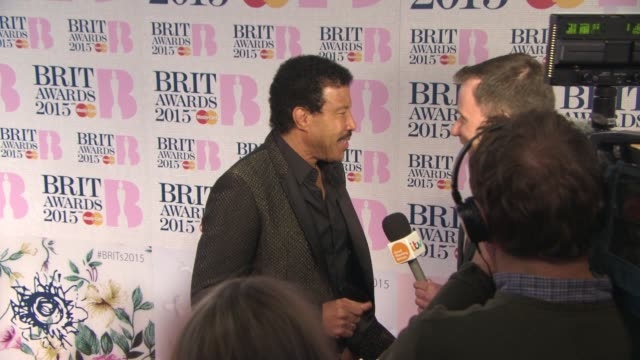 lionel richie at the brit awards 2015 at the o2 arena on february 25 2015 in london england - lionel richie stock videos & royalty-free footage