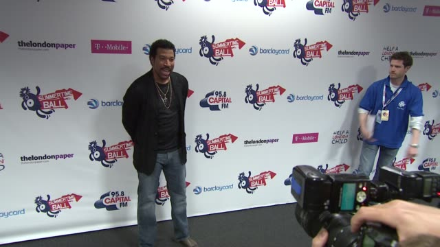 lionel richie at the capital fm summer ball at london england - lionel richie stock videos & royalty-free footage