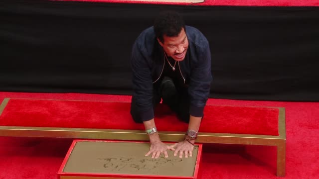 Lionel Richie at the Lionel Richie Handprint and Footprint Ceremony At TCL Chinese Theatre at TCL Chinese Theatre on March 07 2018 in Hollywood...