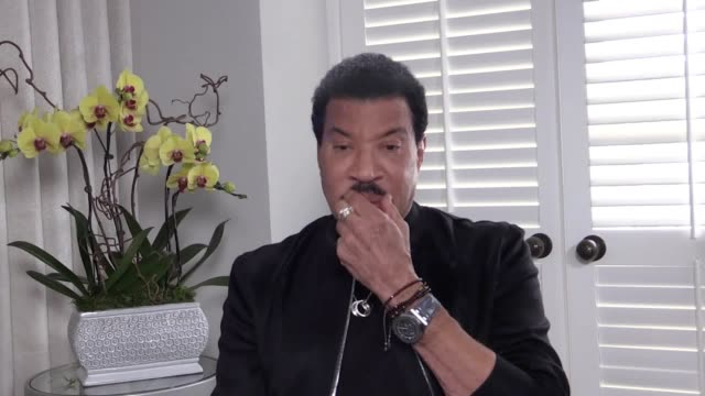 lionel richie discusses his upcoming tour in the uk the singer talks about british fans' fondness for proposing during concerts dressing up as him as... - lionel richie stock videos & royalty-free footage