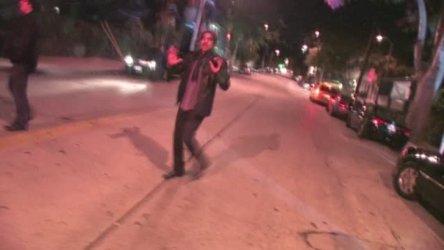 lionel richie leaving sur lounge in west hollywood - lionel richie stock videos & royalty-free footage