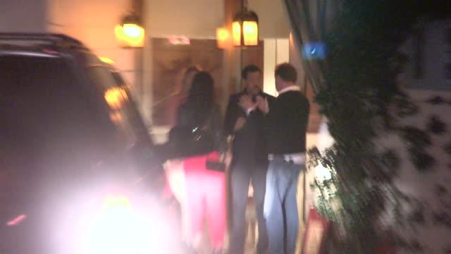 lionel richie lisa parigi piers morgan celia walden at the sunset tower hotel in los angeles in celebrity sightings in los angeles - lionel richie stock videos & royalty-free footage