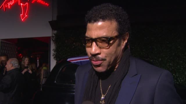 interview lionel richie on his friend philip green at topshop topman la opening party at cecconi's on 2/13/2013 in los angeles ca - lionel richie stock videos & royalty-free footage