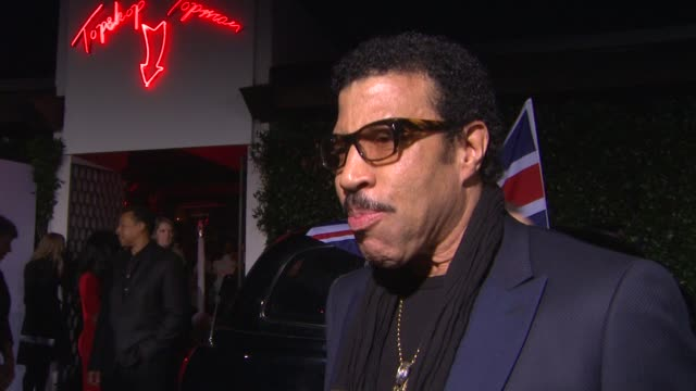 interview lionel richie on philip green at topshop topman la opening party at cecconi's on 2/13/2013 in los angeles ca - lionel richie stock videos & royalty-free footage