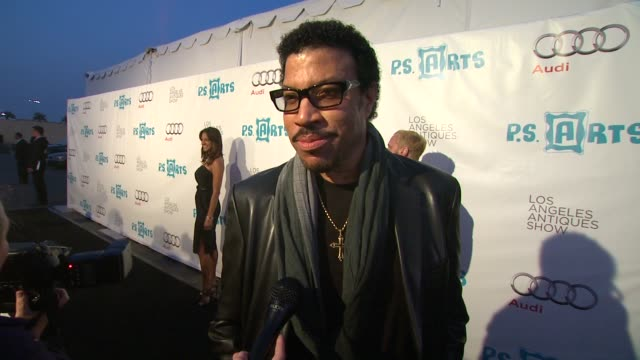 lionel richie on the evening why it's important to have the arts in the public schools why the arts are meaningful to him if he is an art fan/antique... - lionel richie stock videos & royalty-free footage