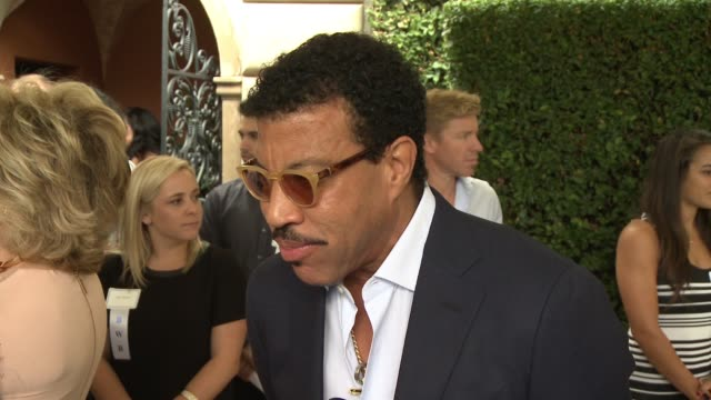interview lionel richie on why it was important to him to attend the event at the rape foundation's annual brunch in los angeles ca - lionel richie stock videos & royalty-free footage