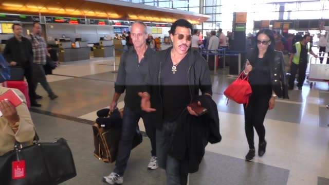interview lionel richie talks about rock n roll hall of fame at lax airport in los angeles celebrity sightings on april 20 2016 in los angeles... - lionel richie stock videos & royalty-free footage