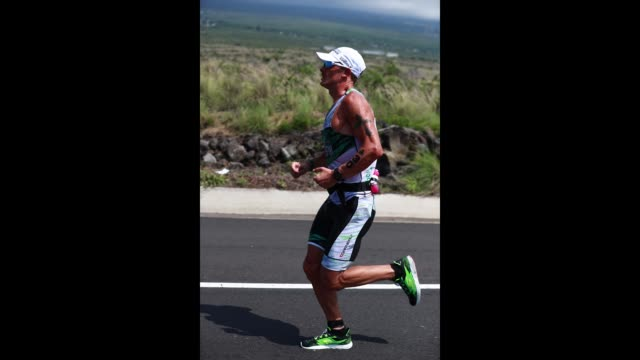 Lionel Sanders of Canada competes in the run during the IRONMAN World Championship on October 14 2017 in Kailua Kona Hawaii