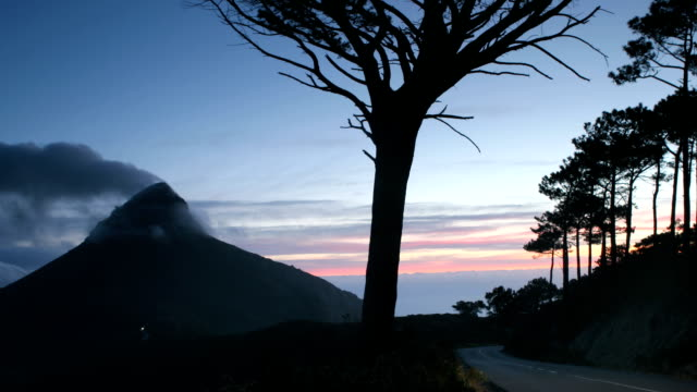 lions head at dusk - western cape province stock videos & royalty-free footage