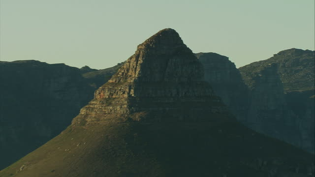 lion's head mountain in cape town - lion's head mountain stock videos and b-roll footage