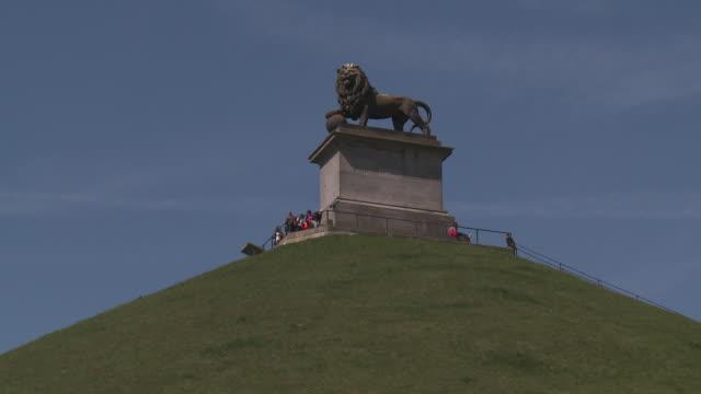 lion's mound at waterloo - belgium stock videos & royalty-free footage