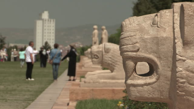 lions of ataturk memorial, ankara, turkey - ankara stock videos and b-roll footage