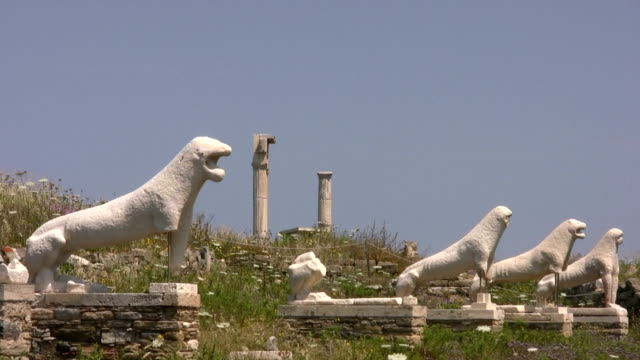 lions of the naxians, delos, greece - greek mythology stock videos and b-roll footage