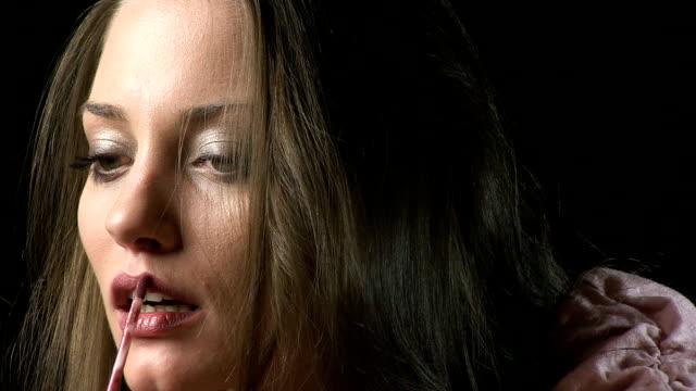 lip gloss - lip liner stock videos & royalty-free footage