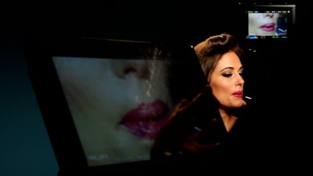 Lip Stick & Glamour Model on Monitors