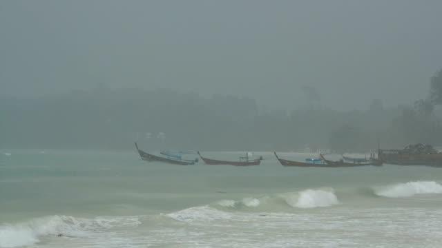 lipe beach - longtail boat stock videos & royalty-free footage