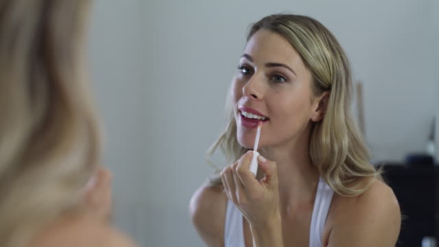 lipgloss fixes everything - caucasian appearance stock videos & royalty-free footage