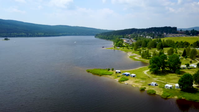 lipno. bohemia, czech republic. - river vltava stock videos & royalty-free footage