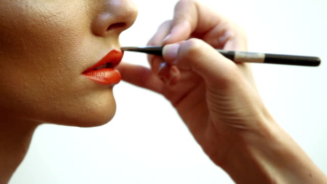 lips make-up - stage make up stock videos and b-roll footage