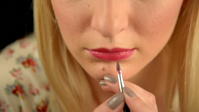 lips make-up - human nose stock videos & royalty-free footage
