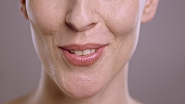 lips of a caucasian woman talking - human mouth stock videos & royalty-free footage