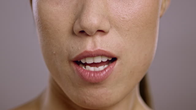 lips of an angry young asian woman - human mouth stock videos & royalty-free footage