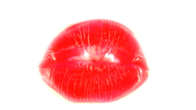 lipstick kiss - kissing stock videos & royalty-free footage