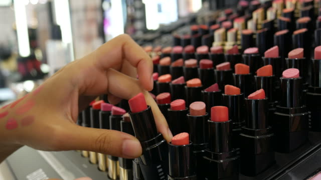 lipstick tester - lipstick stock videos & royalty-free footage