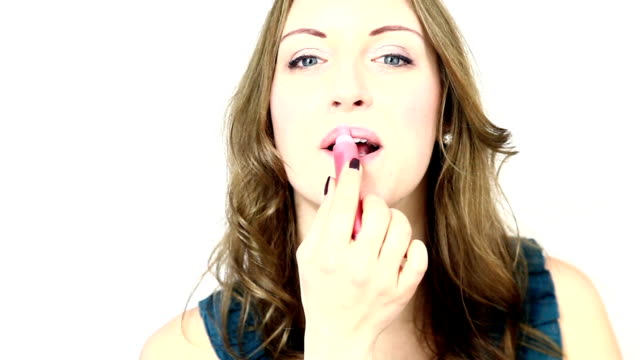 lipstick. - pink lipstick stock videos and b-roll footage
