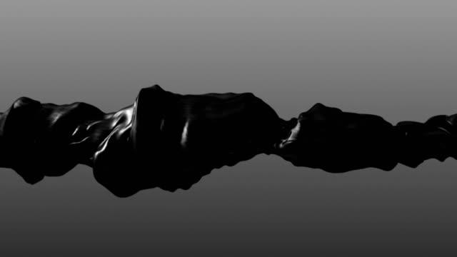 vídeos de stock, filmes e b-roll de animação de loop infinito líquido cromado - mercúrio metal