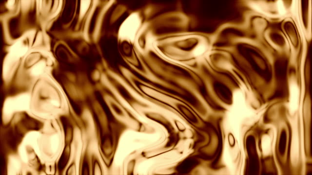 liquid gold - distorto video stock e b–roll