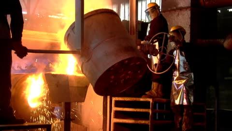 stockvideo's en b-roll-footage met vloeibare metal6 - mijnindustrie