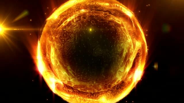 liquid orange energy ball - plasma ball stock videos and b-roll footage