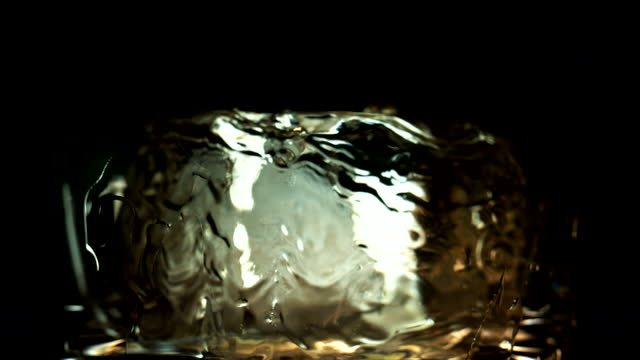 liquid pouring over ice - single object stock videos & royalty-free footage