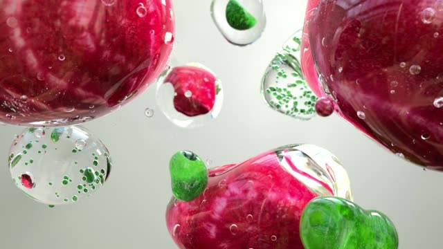 vidéos et rushes de liquid spheres - molécule
