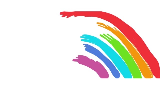 liquit rainbow animation - variation stock videos & royalty-free footage