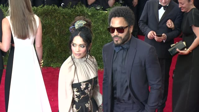 Lisa Bonet and Lenny Kravitz at China Through The Looking Glass Costume Institute Benefit Gala Arrivals at Metropolitan Museum of Art on May 04 2015...