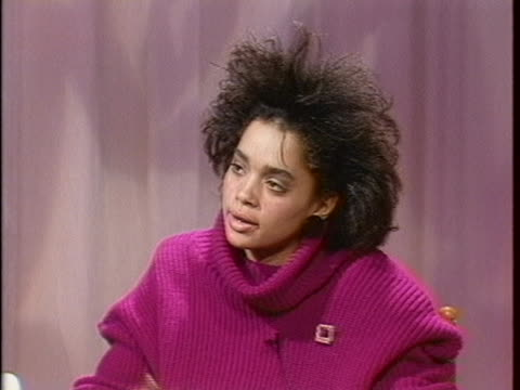 """lisa bonet, who plays denise huxtable on """"the cosby show"""", describes her experience working with bill cosby. - malcolm jamal warner stock videos & royalty-free footage"""