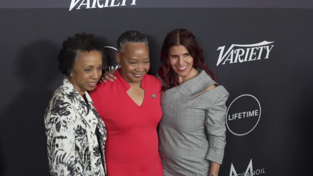 lisa borders at the variety's power of women: los angeles at the beverly wilshire four seasons hotel on october 12, 2018 in beverly hills, california. - フォーシーズンズホテル点の映像素材/bロール