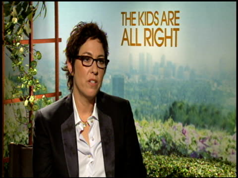 lisa cholodenko on trying to relate to actors at the 'the kids are all right' junket at los angeles ca. - entertainment occupation stock videos & royalty-free footage