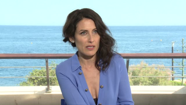 interview lisa edelstein at 56th monte carlo tv festival day 2 on june 14 2016 in monaco monaco - lisa edelstein stock videos and b-roll footage