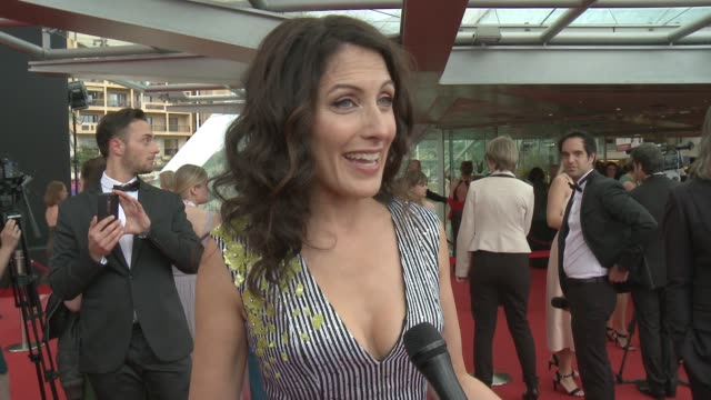 interview lisa edelstein at 56th monte carlo tv festival day 4 on june 16 2016 in monaco monaco - lisa edelstein stock videos and b-roll footage