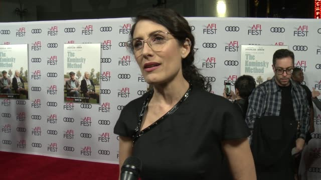 INTERVIEW Lisa Edelstein at A Netflix Original Series The Kominsky Method Los Angeles Premiere At AFI Fest at TCL Chinese Theatre on November 10 2018...