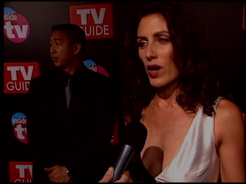 lisa edelstein at the 2005 tv guide emmy awards party at the hollywood roosevelt hotel in hollywood california on september 18 2005 - lisa edelstein stock videos and b-roll footage